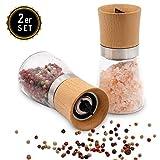 Hannah's Homebrand Salz und Pfeffer Mühle mit Keramik-Mahlwerk (härter als Stahl) - moderne...