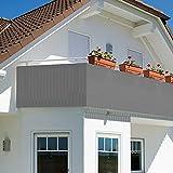 Oramics Sichtschutz Sichtblende für Balkon Geländer Zaun ca. 90x500 cm - Balkonverkleidung...