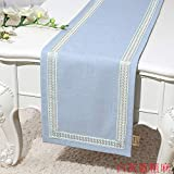 An5Xin Tischläufer abstrakte handgemachte Top Decor Dining Tischläufer Tischwäsche 33x150cm Weiß...