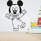 wZUN Wandaufkleber Junge Schlafzimmer Wohnzimmer Kunstdekoration Wandbild Cartoon Maus Vinyl...
