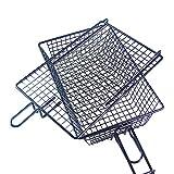 Nicht-Stick-Grillkorb - mit Kurzkorb mit Deckel Metall Grillkorb, mit faltbarem abnehmbarem...