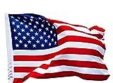 USA Fahne 90 x 150 cm, Flagge Vereinigte Staaten Amerika, aus Stoff mit doppelt umsäumten...