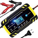 Ladegerät Autobatterie,8A 12V/24V KFZ Batterieladegerät Auto mit LCD-Touchscreen,Batterie...