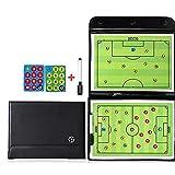 CLX Tragbare Fußball Magnetic Taktiktafel Professional Soccer Coaching mit Marker Stück Stift und...