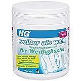 HG Weißer als Weiß Spezialwaschmittel für Weißwäsche 400 gr - ist ein Waschmittel für weiße...