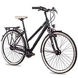 Airtracks Damen City Fahrrad 28 Zoll Cityrad CI.2820L Shimano Nexus 7 Gang Schwarz Matt -...