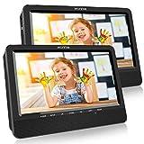 WONNIE 2021 Modelle 10. 5' DVD Player Auto 2 Bildschirme Tragbare DVD Player 4 Stunden Spielzeit mal...