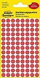 AVERY Zweckform 3010 selbstklebende Markierungspunkte 416 Stück (Ø 8mm, Klebepunkte auf 4 Bogen,...