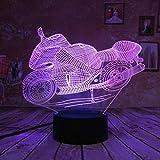 orangeww Cool Boys Geschenk Spielzeug Motorrad Nachtlicht 16 Farbwechsel Touch Kinder Lampen...