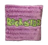 Expressions Rockstar Überwurfkissen, quadratisch, 35,6 cm, Lavendel-Pink, Lila, Fuzzy...