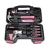 Damen Tool Kit Frauen Heim-Werkzeug-Set Haushalt Wohnung Repair Handwerkzeug mit Hart...