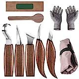 Bainuojia Holz-Schnitzwerkzeug Set, Holz Schnitzmesser mit Schleifsteine und Schnittfeste...