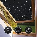 KINLO Dachfensterrollo für Velux FK04 Verdunkelungsrollo ohne Bohren mit Saugnäpfe 47 * 78cm...