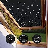 Dachfensterrollo für Velux FK04 Verdunkelungsrollo ohne Bohren mit Saugnäpfe 47 * 78cm Thermo...