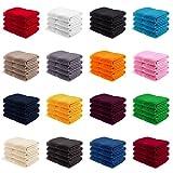 EllaTex Handtuch-Set aus Serie Paris 0040089 100% Baumwolle 500 Gramm/m², Farbe:Orange, Größe:4er...