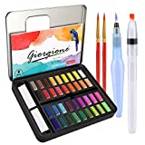 DIAOPROTECT Aquarellfarben,36 Wasserfarben Set,Aquarellfarben Kasten mit 8 Aquarellpapier,2...