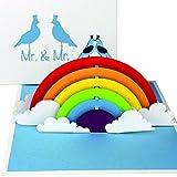 """3D Hochzeitskarte """"Gay Wedding Card - Birds in Love"""" - Pop Up Karte """"Mr. & Mr."""" als..."""