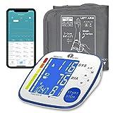 1byone Bluetooth Oberarm-Blutdruckmessgert mit groer Manschette, digitaler automatischer Blutdruck-...