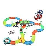 infinitoo Autorennbahn, Magic Trucks Auto Spielset, Inclusive 220 Stück Tracks & 2 E-Autos & 40...