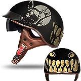 Wosiky Retro Fahrradhelm, Fahrradhelm Mountainbike Helme Schnellverschluss Schnalle Straßenradhelm...