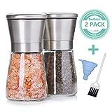 SveBake Salz und Pfeffermühle 2er Set mit Verstellbarem Keramikmahlwerk - Gewürzmühle aus...