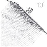 Charmingwater Regendusche 10 Zoll Quadratische 304 Edelstahl ultradnn Einbauduschkpfe Duschkopf...