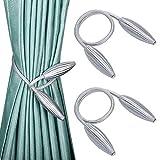 Vorhang Raffhalter, 2 Stück Vorhang Raffhalter im europäischen Stil DIY Vorhangclips Seil...