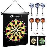 IMIKEYA Magnetische Dartscheibe Dartspiel Set 15 Zoll Dartboard mit 6 Soft Dartpfeile für Kinder...