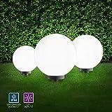 LeuchtenDirekt Kugelleuchten 3er Set auen, Gartenlampe 30 + 40 + 50cm   Auenleuchten...