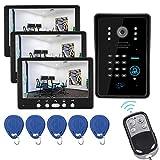 DYWLQ Smart Audio-Türklingel, 7-Zoll-Türkamera für zu Hause, mit 3 * Touch-Monitor,...