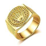 Special&kind Preferred Fashion Hip Hop 18K Gold Iced Out Crown Ring fr Herren Verlobung Hochzeit...