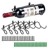 BSTKEY Weinflaschenhalter zur Wandmontage, Eisen, fr Rotwein, Getrnke, Likrflaschen, Metallhalterung...