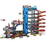 Parkgarage Parktower Spielzeug Kinder Autogarage Parkhaus Garage incl. 6 Spielzeugautos und...