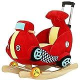 Kinderschaukelstuhl Baby Schaukelpferd Musik Multifunktionstierspielzeug Babyschaukelstuhl Rollstuhl...