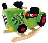 Bieco 74000450 - Plüsch Schaukelstuhl Traktor, Kinder Schaukelstuhl, Sicherheitsgurt und...