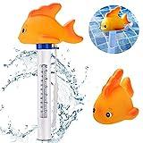 Gafild Schwimmende Pool Thermometer Wasser Temperatur Thermometer mit Saite Schwimmbad Bruchfest...