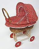 Tigana Puppenwagen aus Weide & Holz Nostalgie Holzpuppenwagen (N-294)
