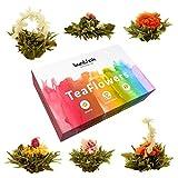Buntfink 'TeaFlowers' Teeblumen Geschenkset, 6 Teerosen/Teeblüten in Geschenkbox, Grüner Tee, von...