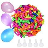 Transino 500 Stück Wasserbomben Schnellfüller Wasserballons Selbstschließend Wasserbombe Klein...