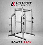 Lukadora Power Rack (Power-Cage) | Multifunktionale Kraftstation mit Klimmzugstange,...