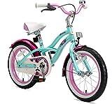 BIKESTAR Premium Sicherheits Kinderfahrrad 16 Zoll fr Mdchen ab 4-5 Jahre | 16er Kinderrad Cruiser |...
