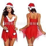 HTRP Baby Dolls & Negligees fr Damen Neu Weihnachtskleidung Weihnachtskleidung Bhnenkleidung 65 rot...