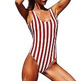 Andouy Damen Einteiler Monokini Deep V-Neck Tankini Bademode Triangle Bodysuit Jumpsuits Swimwear...