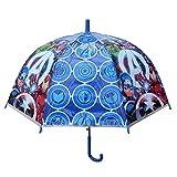 Avengers Regenschirm, transparent, automatisch, Glocke, 48 cm, Unisex, mehrfarbig