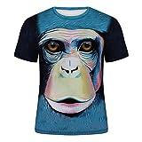 Wařm T-Shirt Sommer Männer Rundhals Kurzarm T-stücke Lustige Tier Männliche Kleidung Lässig 3D...