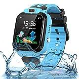 Smartwatch Kinder Uhr für Kinder Smartwatch Tracker Wasserdicht mit Telefon Anruf SOS LBS...