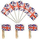Zahnstocher mit britischer Flagge, für Cupcakes, Cupcakes, Zahnstocher, für Cupcakes, Party,...