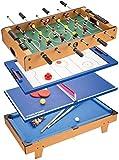 YUHT Spieltisch,Multi Combo Spieltisch, 4 in 1 Spieltisch Hockey Tischkicker Mit Fußball,...