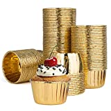 Diealles Shine Muffinförmchen Papier, 100 Stück Aluminium-Folien Papierbackförmchen für Muffins...
