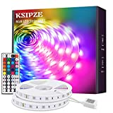 KSIPZE LED Strip 12m RGB Farbwechsel LED Lichterkette LED Band Stripes Mit 44 Tasten Fernbedienung...